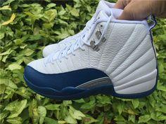 e1da8f95442b Air Jordan 12 French Blue Men Basketball Shoes Carbon Fiber French Blue