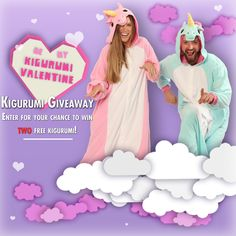 a Rafflecopter giveaway We're doing things a little differently for this special Valentine's giveaway. Two winners will receive two kigurumi each – one for you, and one for whomev…