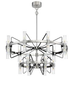 N7879-420 Metropolitan Lighting Fixture Co. Chandelier In Living Room, Glass Chandelier, Chandelier Lighting, Lighting Inc, Lighting Design, Metropolitan Lighting, Lights Please, Large Chandeliers, Glass Shades