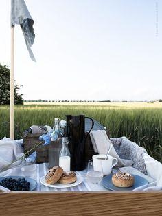 IKEA Deutschland | Sommer ist die perfekte Zeit zum picknicken vor allem wenn man ausgestattet ist mit DINERA Geschirr, KORKEN Flaschen und Zimtschnäcken.  http://www.ikea.com/de/de/catalog/categories/series/14610/ #Draussen #Sommer #Picknick #Geschirr