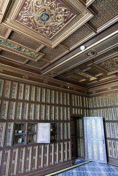 Chateau Royal de Blois - The studiolo or Cabinet of Catherine de' Medici, with 237 carved panels, four with secret panels for her jewels and objets d'art or, some believed, poisons.