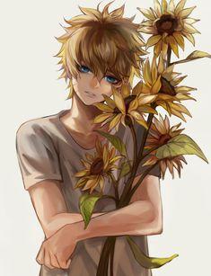 Pixiv Id 5113084, NARUTO, Uzumaki Naruto, Yellow Flower, Sunflower, Jinchuuriki
