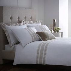 White 'Beaumont' bed linen - Jasper Conran - Debenhams.  Bought this 2 years ago and it still looks great