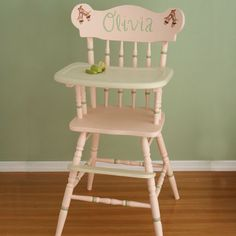 Wish I could find one of these old wooden high chairs to make over