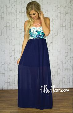 Fancy & Free Maxi in Navy - Filly Flair