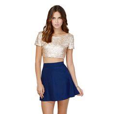Coromose 2016 Summer Women's Sexy Glitter Sequins Backless Crop Tops Bling Bling Colors Short Sleeve T-shirt Girls Crop Tops