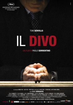 """""""Il Divo"""", un film di Paolo Sorrentino ispirato alla vita di Giulio Andreotti, distribuito da Lucky Red, poster design internozero comunicazione, Ciak d'oro 2008"""
