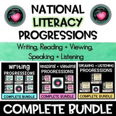 National LITERACY PROGRESSIONS Complete BundleAustralian Curriculum WRITINGCREATING TEXTSPUNCTUATIONSPELLINGHANDWRITING AND KEYBOARDINGREADING AND VIEWINGPHONOLOGICAL KNOWLEDGEPHONIC KNOWLEDGE AND WORD RECOGNITIONFLUENCYUNDERSTANDING TEXTSSPEAKING AND LISTENINGLISTENINGINTERACTINGSPEAKINGThese poste...