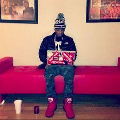 Soulja Boy wearing Ewing 33 Hi