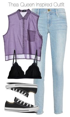 Arrow - Thea Queen Inspired Outfit by staystronng on Polyvore featuring polyvore fashion style Cheap Monday Frame Denim Cosabella Converse Arrow theaqueen