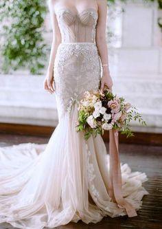 New wedding dresses strapless sweetheart corsets bridal gowns Ideas Lace Mermaid Wedding Dress, New Wedding Dresses, Mermaid Dresses, Edgy Wedding, Lace Wedding, Wedding Colors, Wedding Skirt, Gothic Wedding, Wedding Flowers