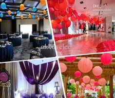 lamparas de papel colgantes en bodaS - Buscar con Google
