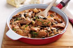 Can't get enough of stroganoff? Then try our tasty take on the humble fave -- sausage stroganoff!
