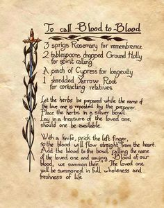 call blood 2 blood spell