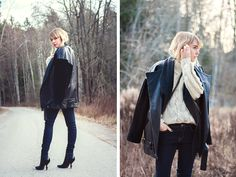 Oversized leather | chaloth.se