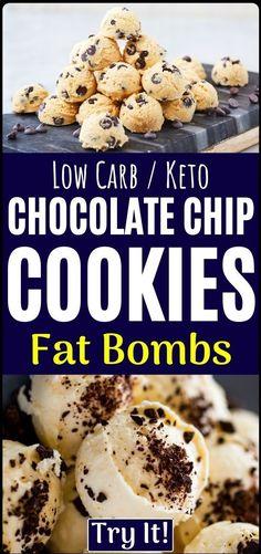 Amazing healthy recipe... Keto Recipes, Healthy Recipes, Dessert Recipes, Dessert Food, Healthy Cooking, Easy Recipes, Cookie Recipes, Desserts, Keto Chocolate Chip Cookies