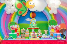 Baby 1st Birthday Cake, 1st Birthday Themes, 2nd Birthday Parties, Birthday Decorations, Baby Tv Cake, Baby First Tv, Barbie Em Paris, Sesame Street Birthday, 1st Birthdays