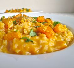 roasted butternut squash brown rice risotto: vegan, dairy free, gluten free