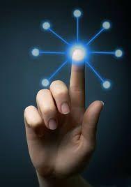 Symbolizes touch technology