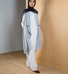 Pastel Grey Sleeveless Cover - £39.99 : Inayah, Islamic Clothing & Fashion, Abayas, Jilbabs, Hijabs, Jalabiyas & Hijab Pins