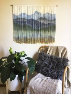 Blue & Green Mountain scene with water washing over pebbles. Custom made fibre art wall hanging Weaving Wall Hanging, Hanging Wall Art, Wall Hangings, Needle Felted, Wool Felting, Nuno Felting, Ideias Diy, Macrame Projects, Wall Tapestry