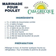 Marinade poulet ou brochette – Food for Healty Mexican Food Recipes, Beef Recipes, Chicken Recipes, Healthy Recipes, Drink Recipes, Breakfast Crepes, Crepes And Waffles, Healthy Eating Tips, Healthy Nutrition