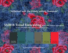 Spring Summer 2018 trend forecasting is a TREND/COLOR Guide that offer seasonal inspiration and key color direction for Women/Men's Fashion, Sport  and Intimate Apparel