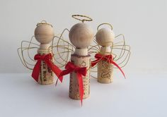 RePurposed Wine Cork and Wire Christmas Angel Ornament. $5.50, via Etsy.