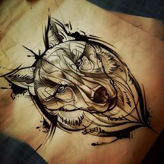 Wolf tattoo design:                                                                                                                                                                                 Más