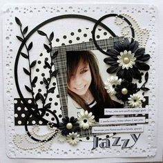 TWO -TONE CONTRAST PAGES.  I LOVE THEM!  #Scrapbook #Scrapbooking #Scrapbook Retreat http://scrapnparadise.webs.com