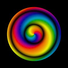 An entrancing, enchanting, vibrant, vivid image to enjoy. A whirling, twirling and swirling animation of rainbow coloration. Optical Illusion Gif, Cool Optical Illusions, Art Optical, Illusion Art, Psychedelic Art, Gifs, Gif Animé, Animated Gif, Gif Pictures