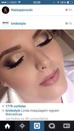 Beautiful makeup for the beautiful bride. Bridal Makeup Looks, Wedding Hair And Makeup, Pretty Makeup, Gorgeous Makeup, Mime Makeup, Hair Makeup, How To Make Hair, Eye Make Up, All Things Beauty