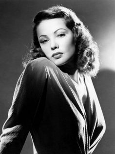 "1940s Actresses | And you cannot forget the striking Gene Tierney, ""The ghost and Mrs. Muir"" is my absolute favorite of hers"