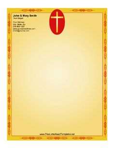 Red hearts on a pink background form this letterhead perfect for