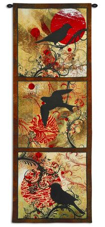 Autumn's Perch by Brad Simpson Tapestry Tapestry Weaving, Tapestry Wall Hanging, Wall Hangings, Framed Artwork, Wall Art, Art Prints For Sale, Triptych, World Cultures, Frames On Wall