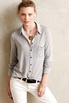 Heathered Swing Shirt - anthropologie.com