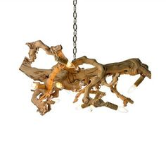 Driftwood Chandelier by vintagehandmade4u Etsy