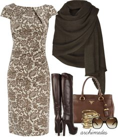 love the brown...and dress