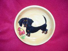 Client Order: Dachshund Dog Bowl