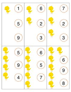 Here's a set of clothespin clip cards for counting.