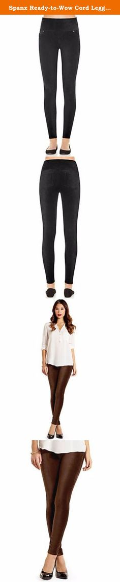 Spanx Ready-to-Wow Cord Leggings (2069),Eggplant-Small. We made this essential style with the slim built-in and brushed jersey fabric that feels amazing. Whether you're off to work or on the go, these leggings keep you comfortable and confident all day.