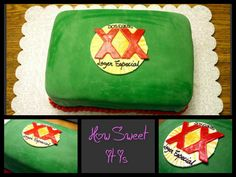 Dos Equis Birthday Cake by How Sweet It Is NY.