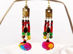 Boucles d'oreilles longues gypsy bohème par MesOdalisques sur Etsy