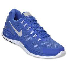 Nike LunarGlide+ 4 Shield Men's Running Shoes  FinishLine.com   Blue/Silver