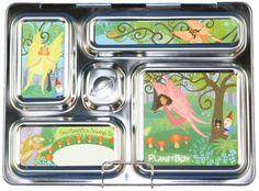 PlanetBox Rover Lunchbox - Purple Carry Bag with Fairies Magnets:Amazon:Kitchen & Dining