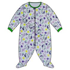 FREE: Pattern (in Russian) for baby sleep suit with feet, available in sizes 56-80 (0-3m to 12-18m).