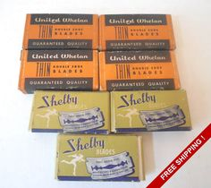 Vintage Collection of Double Edge Safety Blades – United Whelan – Shelby by VintageSistersx2 on Etsy