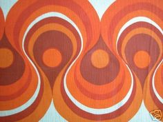 FABRIC original / retro vintage flower power by dutchdetails Cool Patterns, Vintage Patterns, Textures Patterns, Print Patterns, Retro Pattern, Pattern Design, Retro Fabric, Mid Century Modern Art, Painted Paper