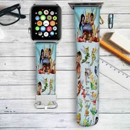 Disney Fairies Custom Apple Watch Band Leather Strap Wrist Band Replacement 38mm 42mm