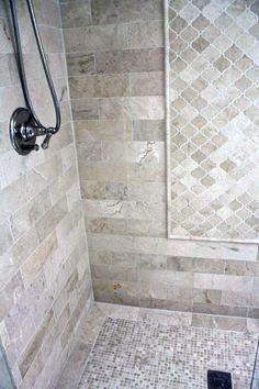 bathroom tile ideas Trendy Bathroom Shower Tile Neutral Toilets Ideas tile i Shower Remodel, Bath Remodel, Shower Tile Designs, Shower Tile Patterns, Bathroom Designs, Master Shower, Bathroom Flooring, Travertine Bathroom, Tile Flooring